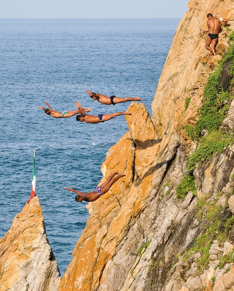 Visit the famous Cliff Divers on your next Acapulco Vacation