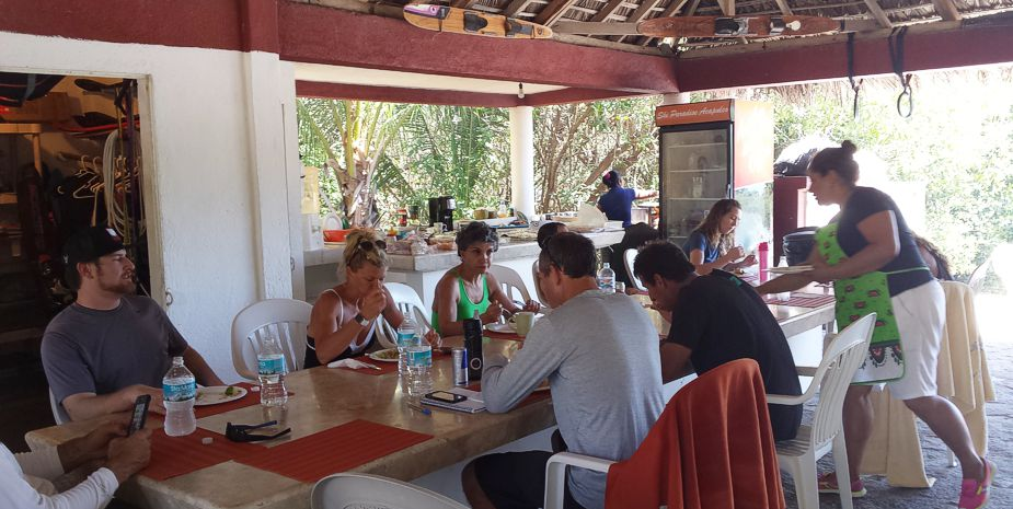 Lunch at the palapa