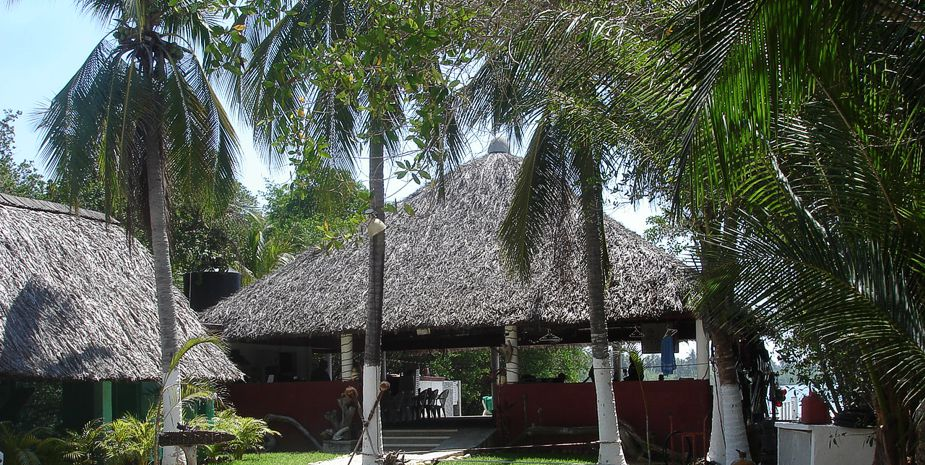 The palapa at Ski Paradise
